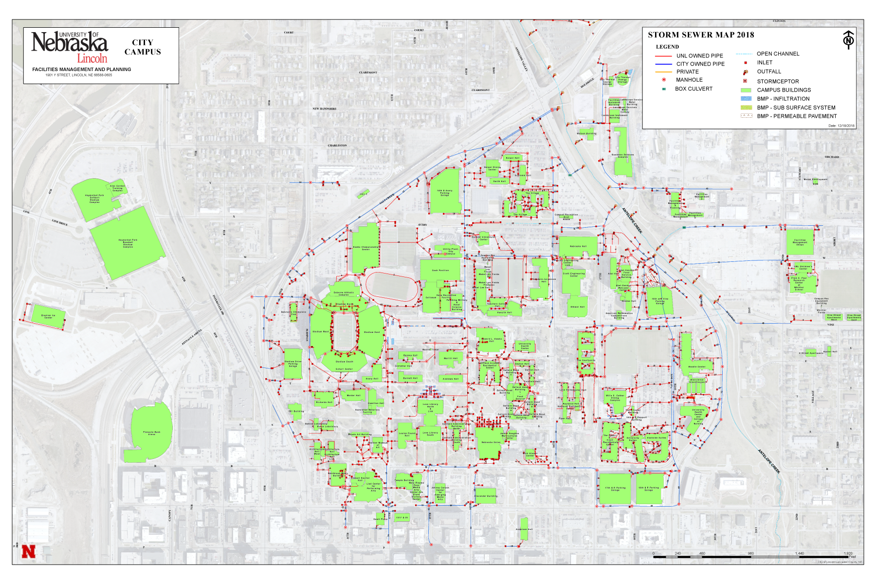 City Campus Storm Sewer Map
