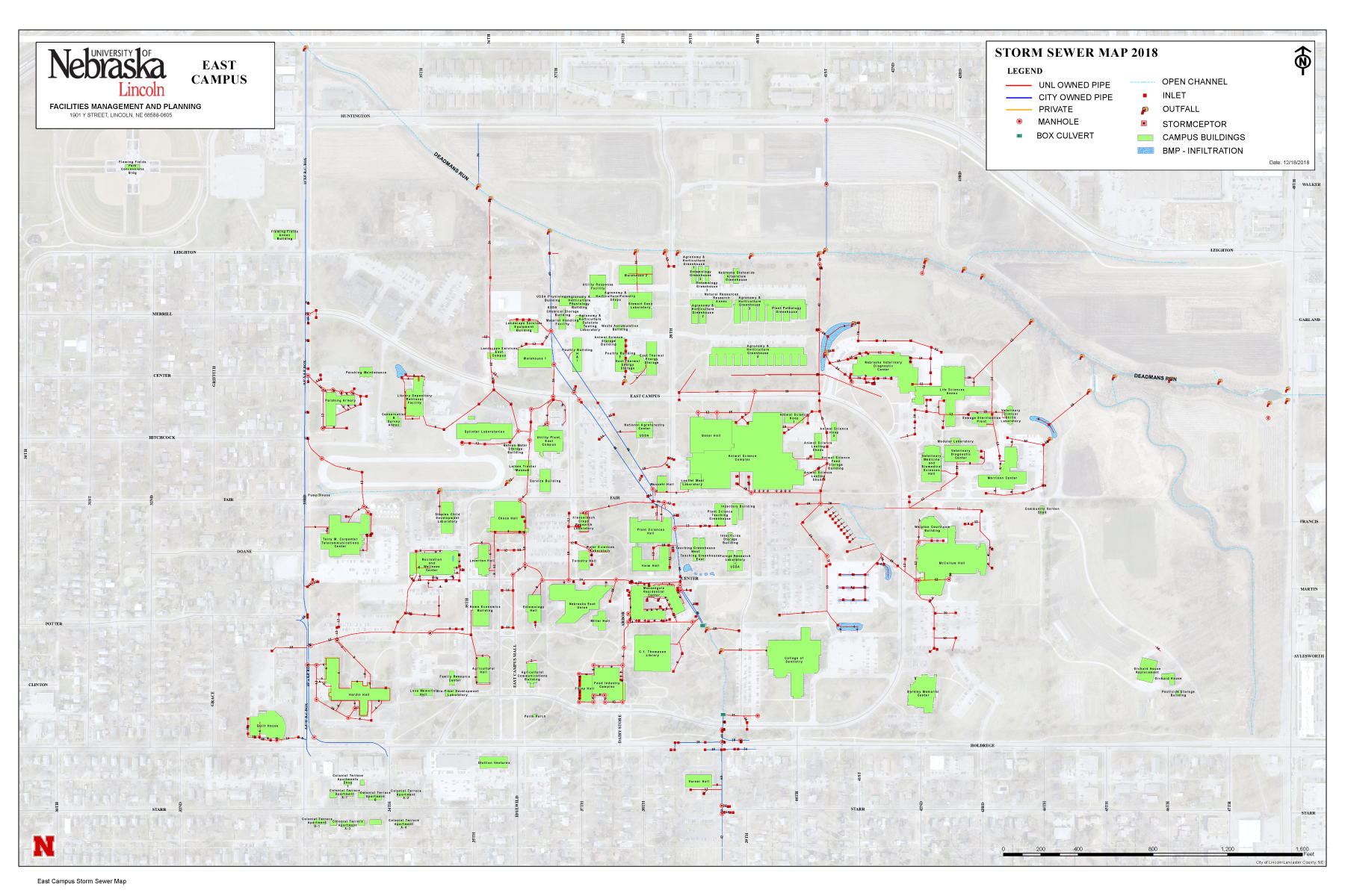 East Campus Storm Sewer Map