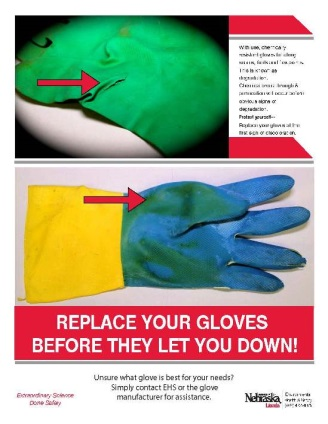 Image of Safety gloves poster
